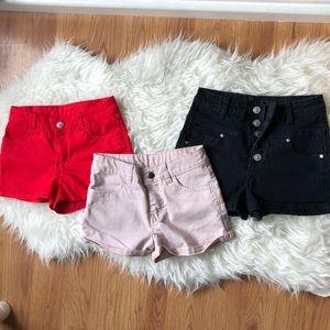 ☀️ Short shorts bundle of 3 size XS